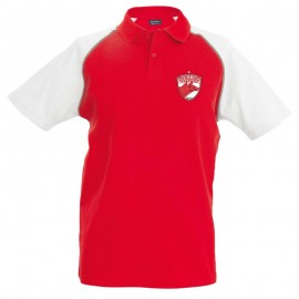 Tricou POLO Rosu/Alb, Model ARSENAL