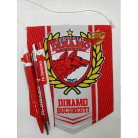 Set pachet cadou fanion, pix, insigna Dinamo